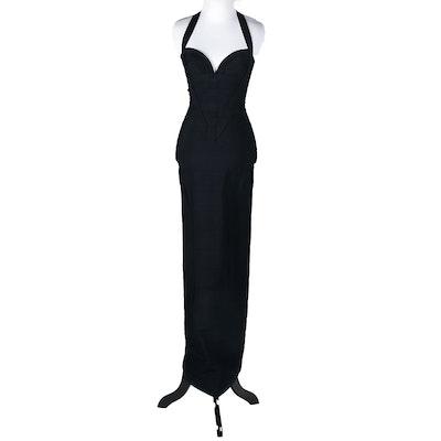 Hervé Leger Couture Black Bandage Evening Gown, Circa 1990s