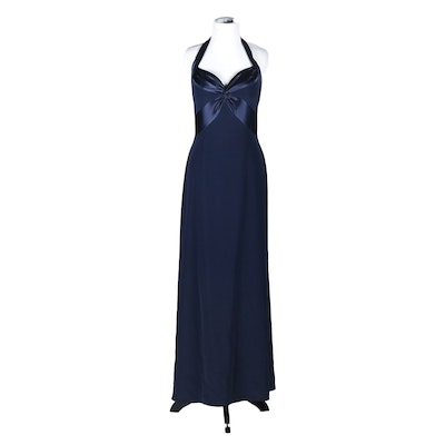 Bob Mackie Navy Blue Formal Gown Tanya Wore at The CMA Awards in 1997
