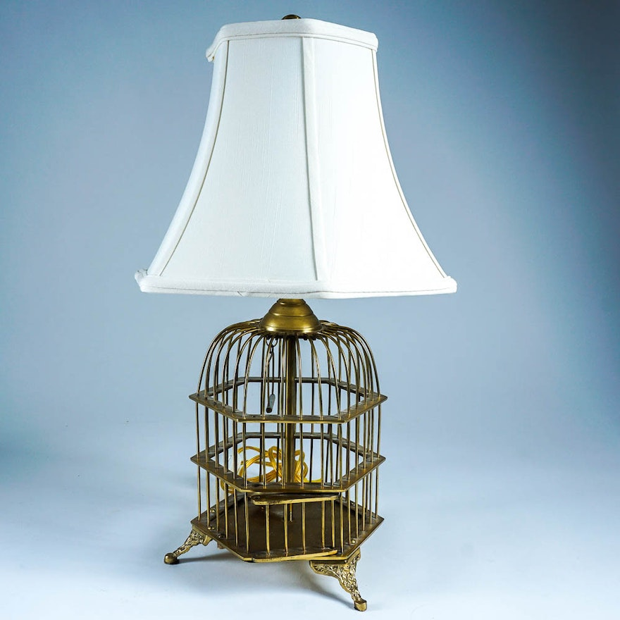 Vintage currey and company bird cage lamp ebth vintage currey and company bird cage lamp aloadofball Image collections