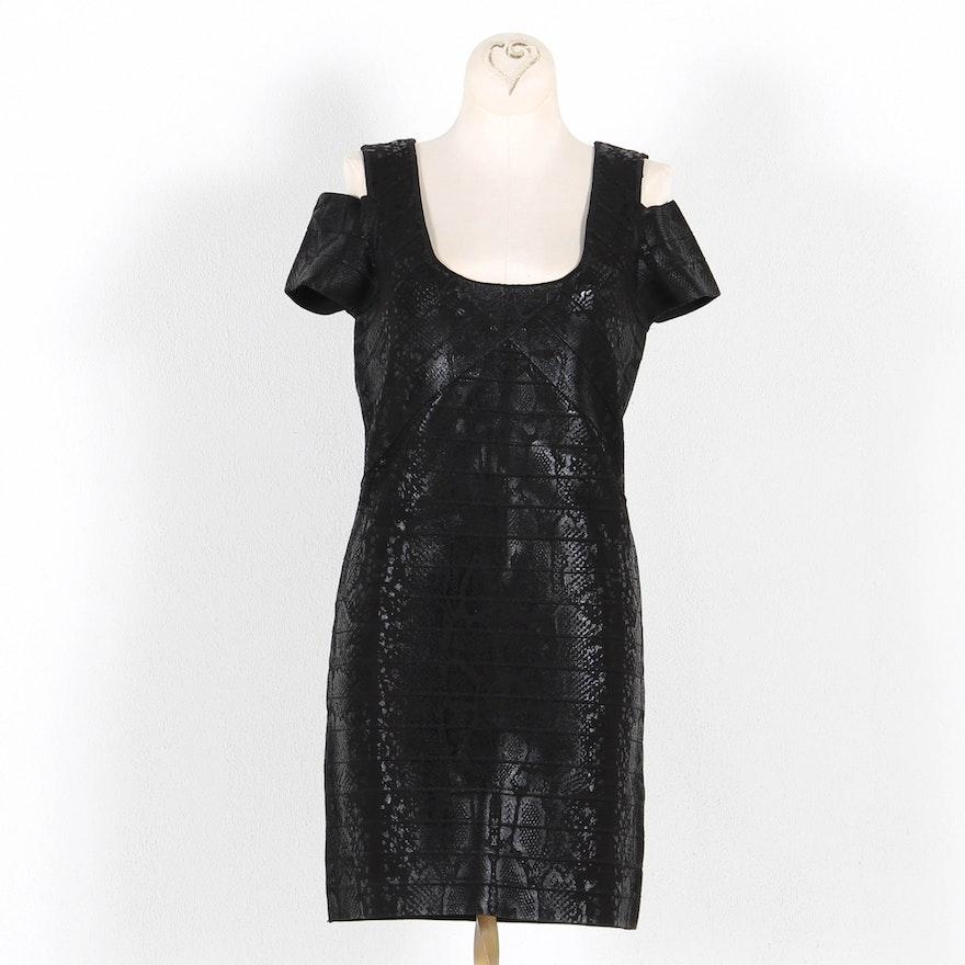 18aa2043fbe9 David Bitton Designed Black Snakeskin Dress by Buffalo   EBTH