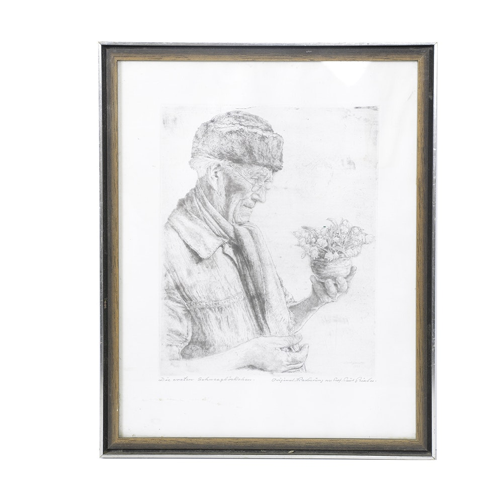 Original Signed Etching by Paul Geissler
