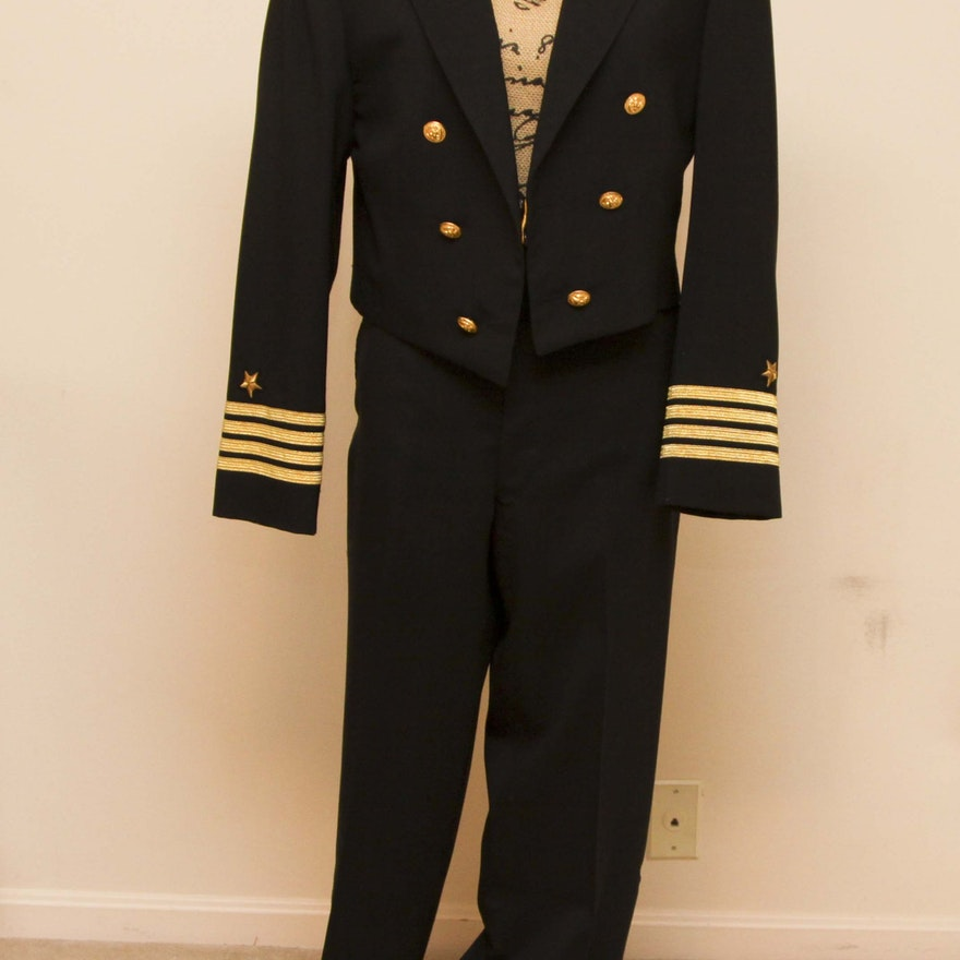 Us Navy Military Commander Formal Dress Blues Uniform Ebth