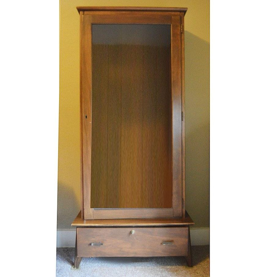 Poplar For Cabinets Mid Century Poplar Gun Cabinet Ebth