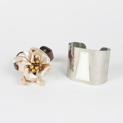Pair of Bold Cuff Bracelets