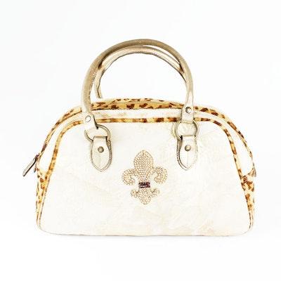 Fur and Leather Handbag