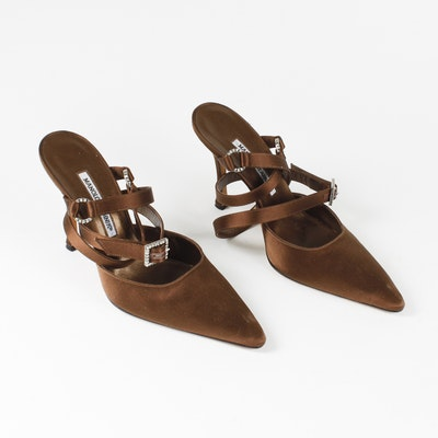 Brown Manolo Blahnik Heels