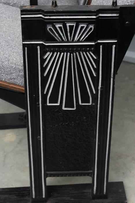 vintage stadium seats with custom upholstery art deco design ebth. Black Bedroom Furniture Sets. Home Design Ideas
