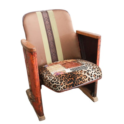 Vintage Stadium Seat With Custom Reupholstery