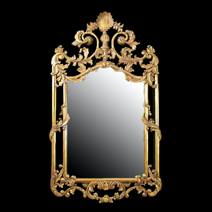Large baroque style wall mirror ebth for Baroque style wall mirror