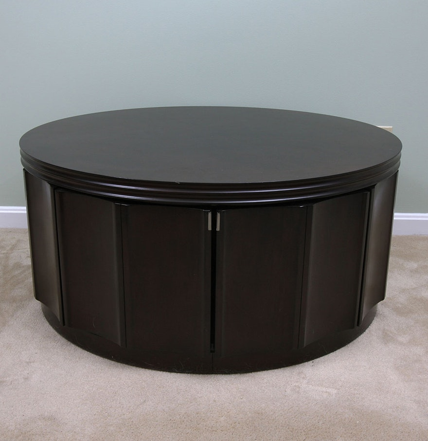 Round Coffee Table With Storage Singapore: Round Storage Coffee Table : EBTH