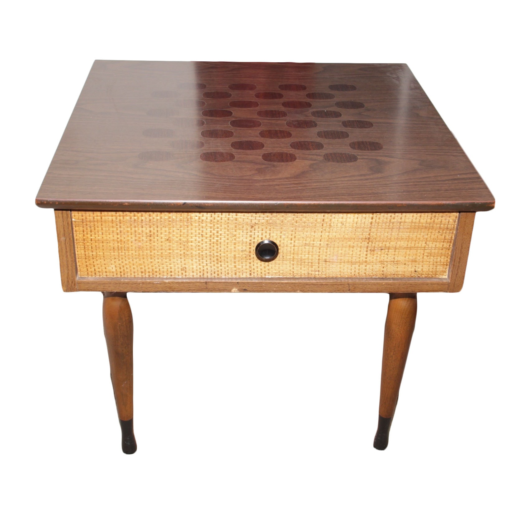 vintage kroehler mid century end table