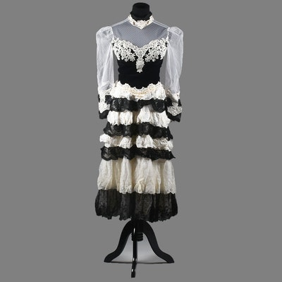"""Vintage Diana Venegas Haute Couture of Beverly Hills Ensemble Tanya Wore on """"The Love Boat"""""""