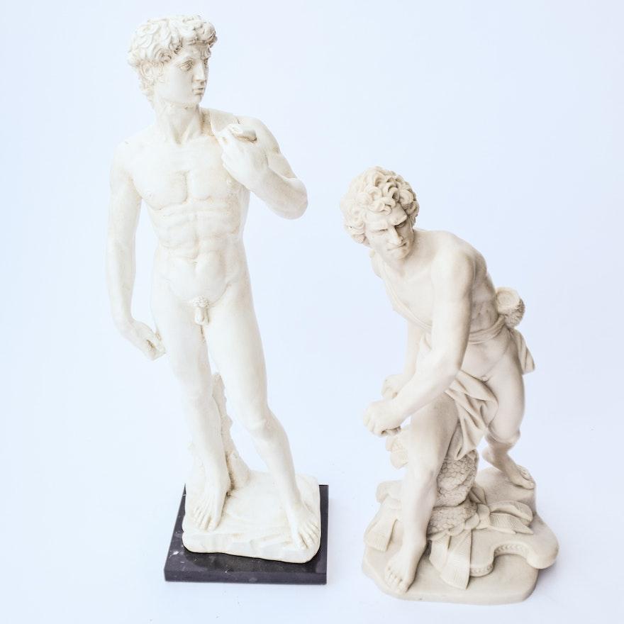 Pair of Classical David Sculptures