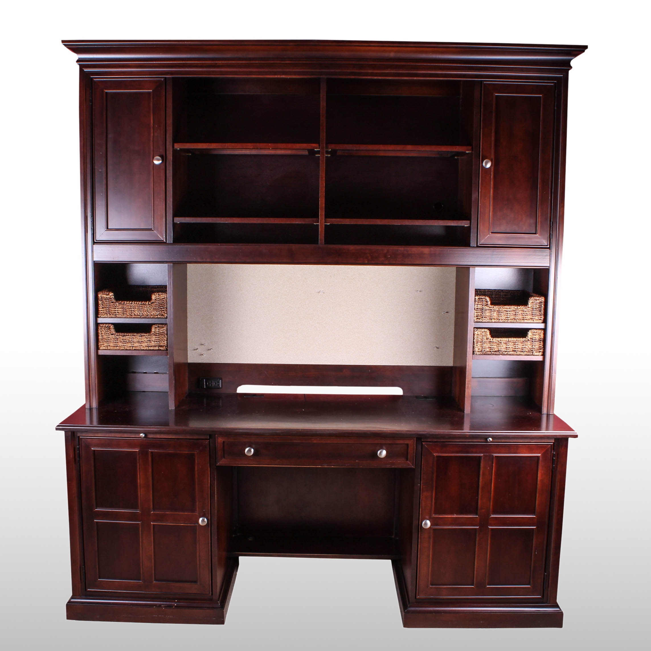 Superior Stanley Furniture Office Desk With Hutch ...