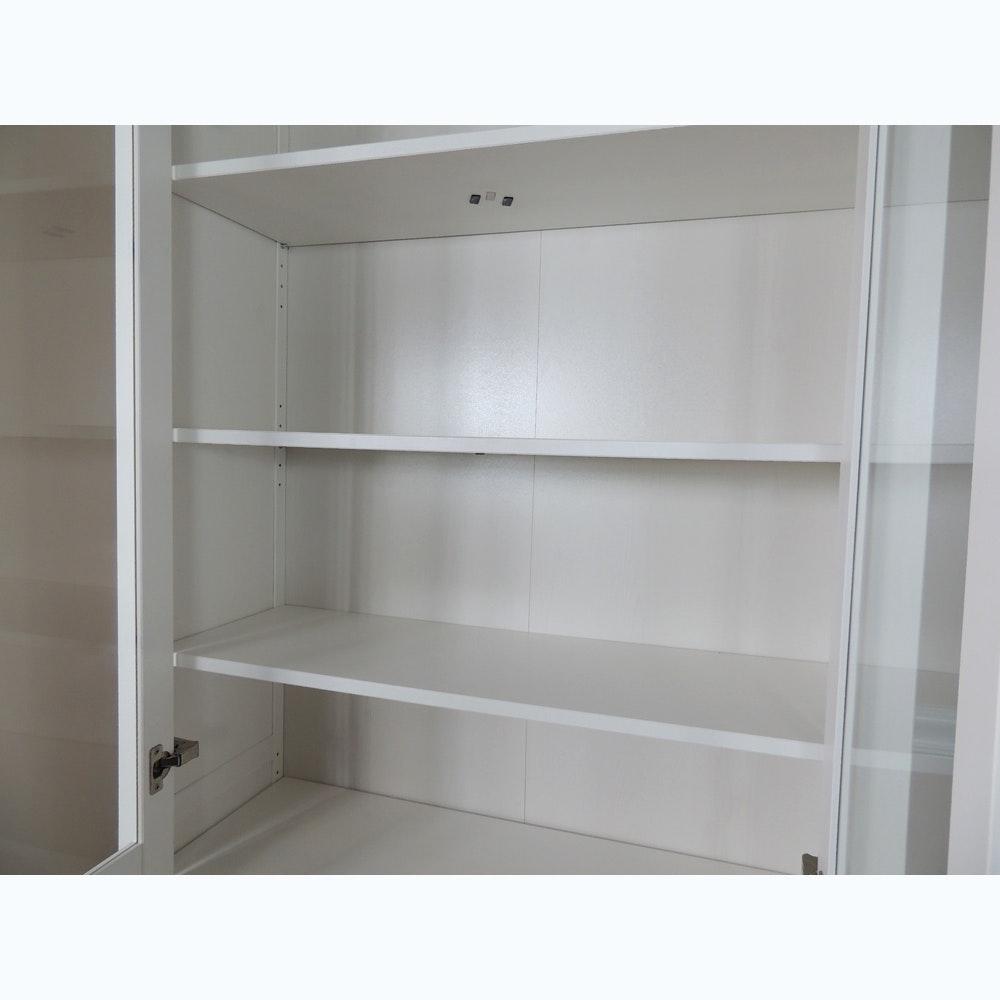 white ikea hemnes hutch cabinet ebth. Black Bedroom Furniture Sets. Home Design Ideas