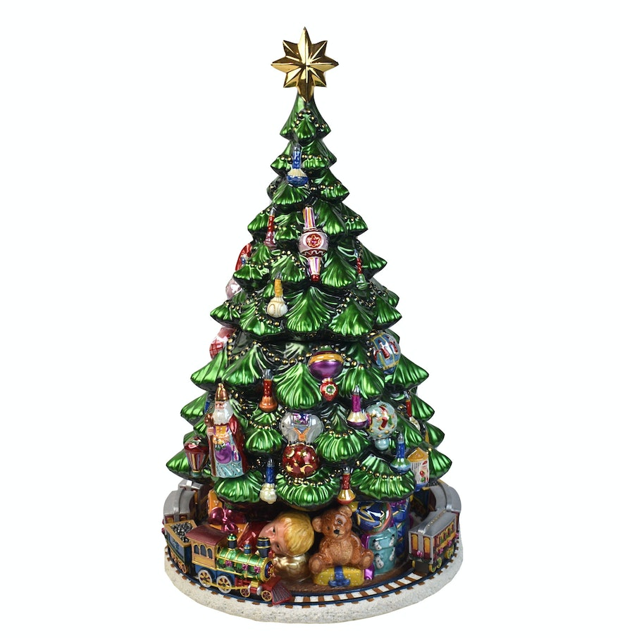 Christopher radko 15th anniversary christmas tree musical for Christmas tree items list