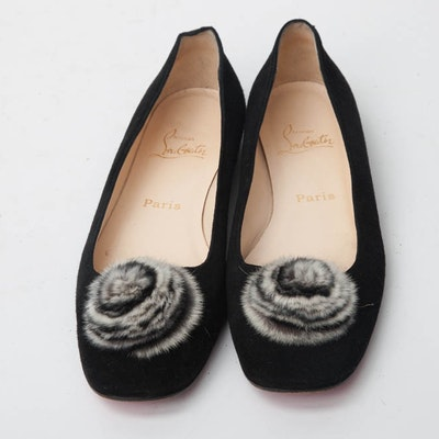 Christian Louboutin Black Flat Shoes