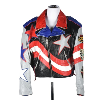 Tanya's Limited Edition Racing Team Leather Jacket Designed by Jeff Hamilton with Signature