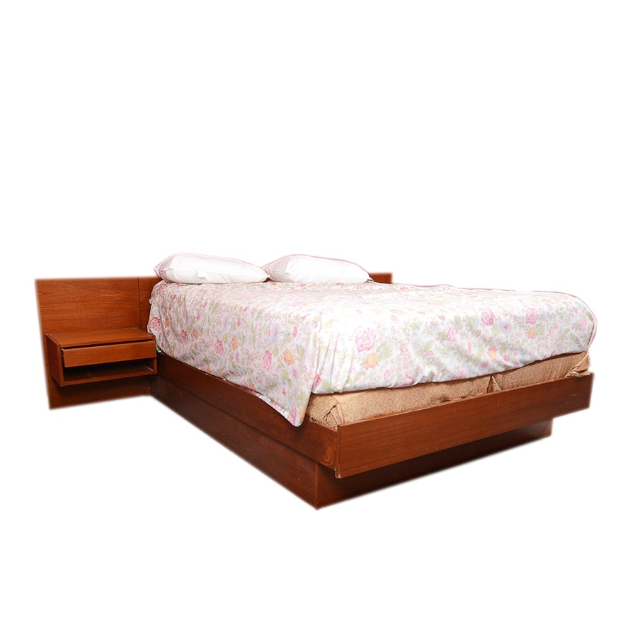 Modern Queen Bed Headboard With Built