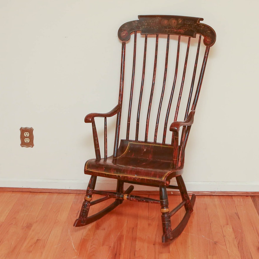 Antique Windsor Style Rocking Chair Circa 1800s ... - Antique Windsor Style Rocking Chair Circa 1800s : EBTH