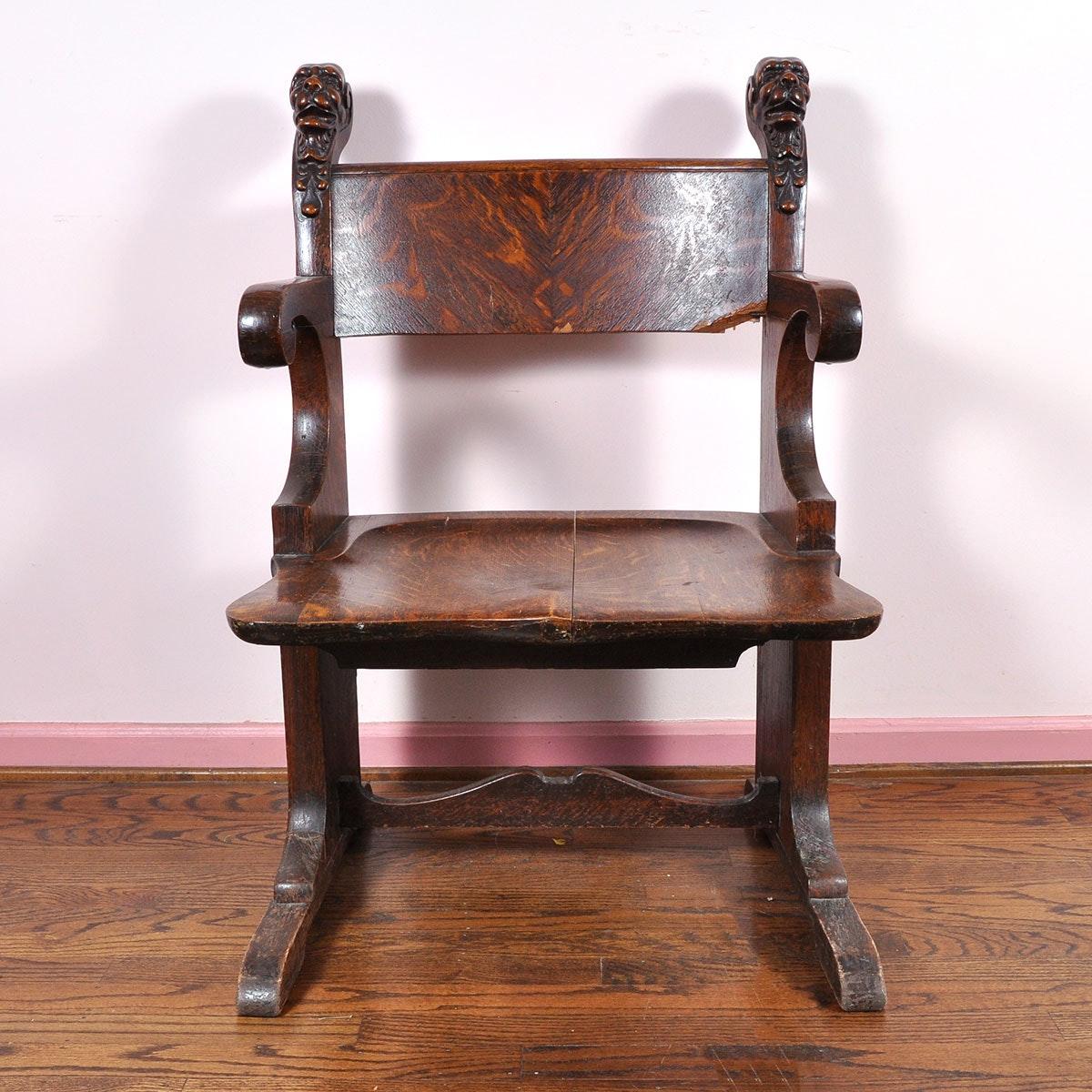 Stomps-Burkhardt Oak Gothic Throne Chair ... & Stomps-Burkhardt Oak Gothic Throne Chair : EBTH