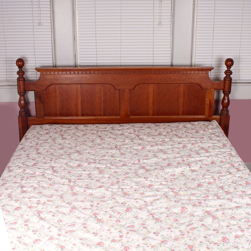 Queen Size Cherry Headboard And Bed Frame
