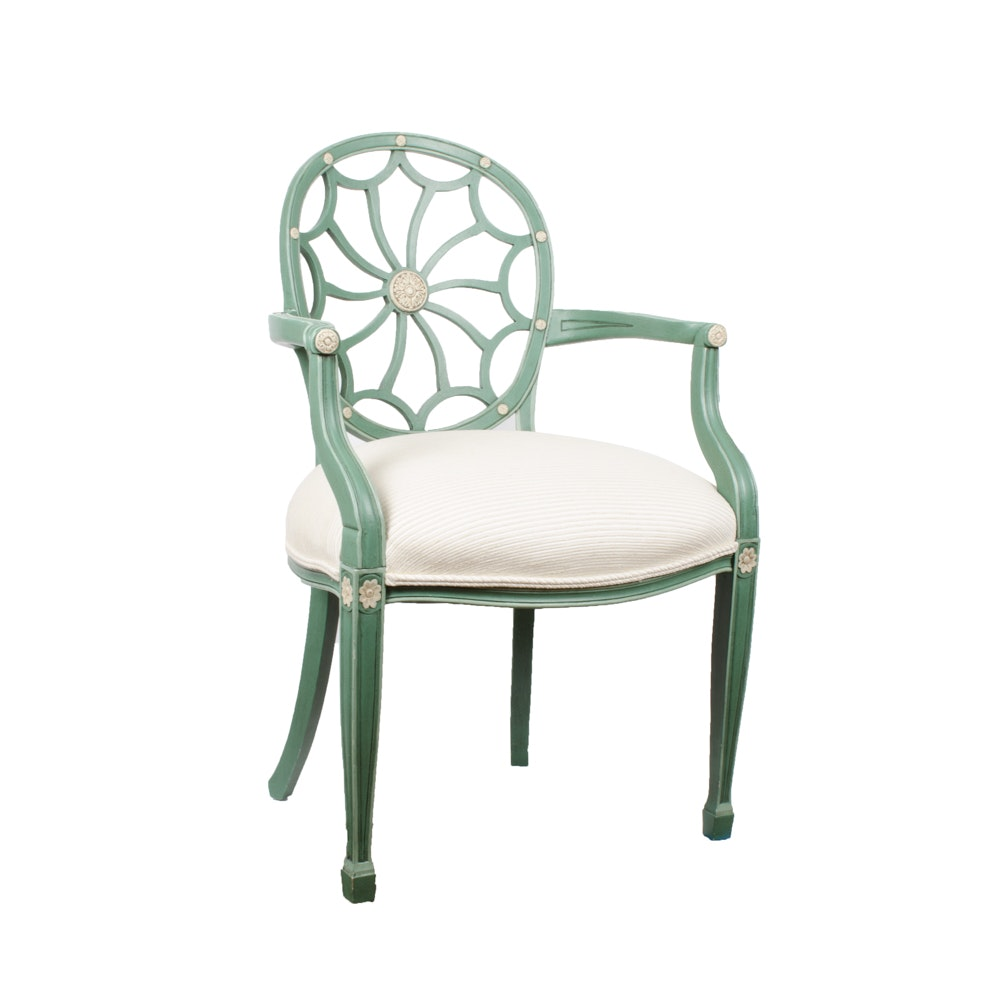 Painted Spider Back Armchair