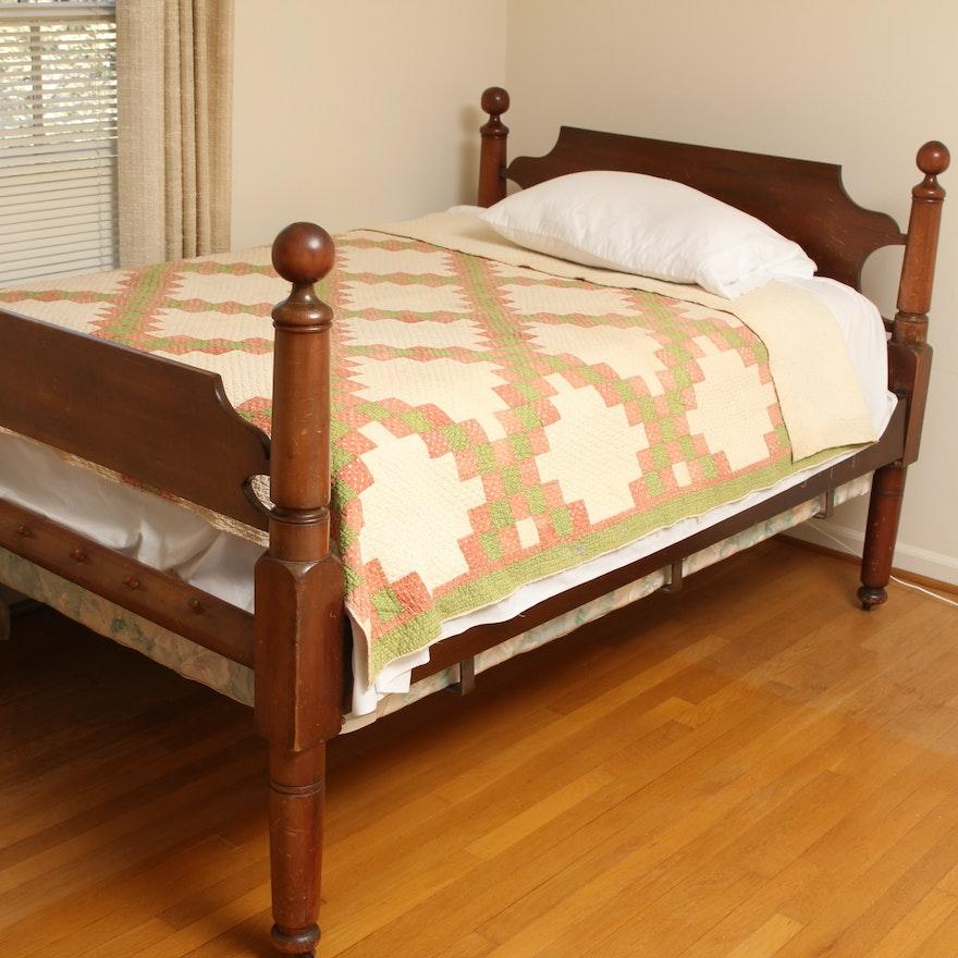 Antique Three Quarter Bed Frame Ebth