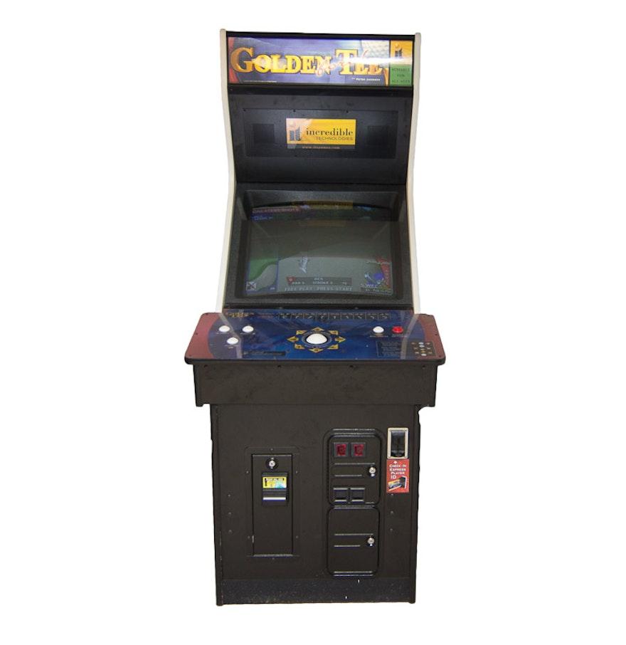 Golden Tee Cabinet Golden Tee Fore Golf Video Game Arcade Cabinet Ebth