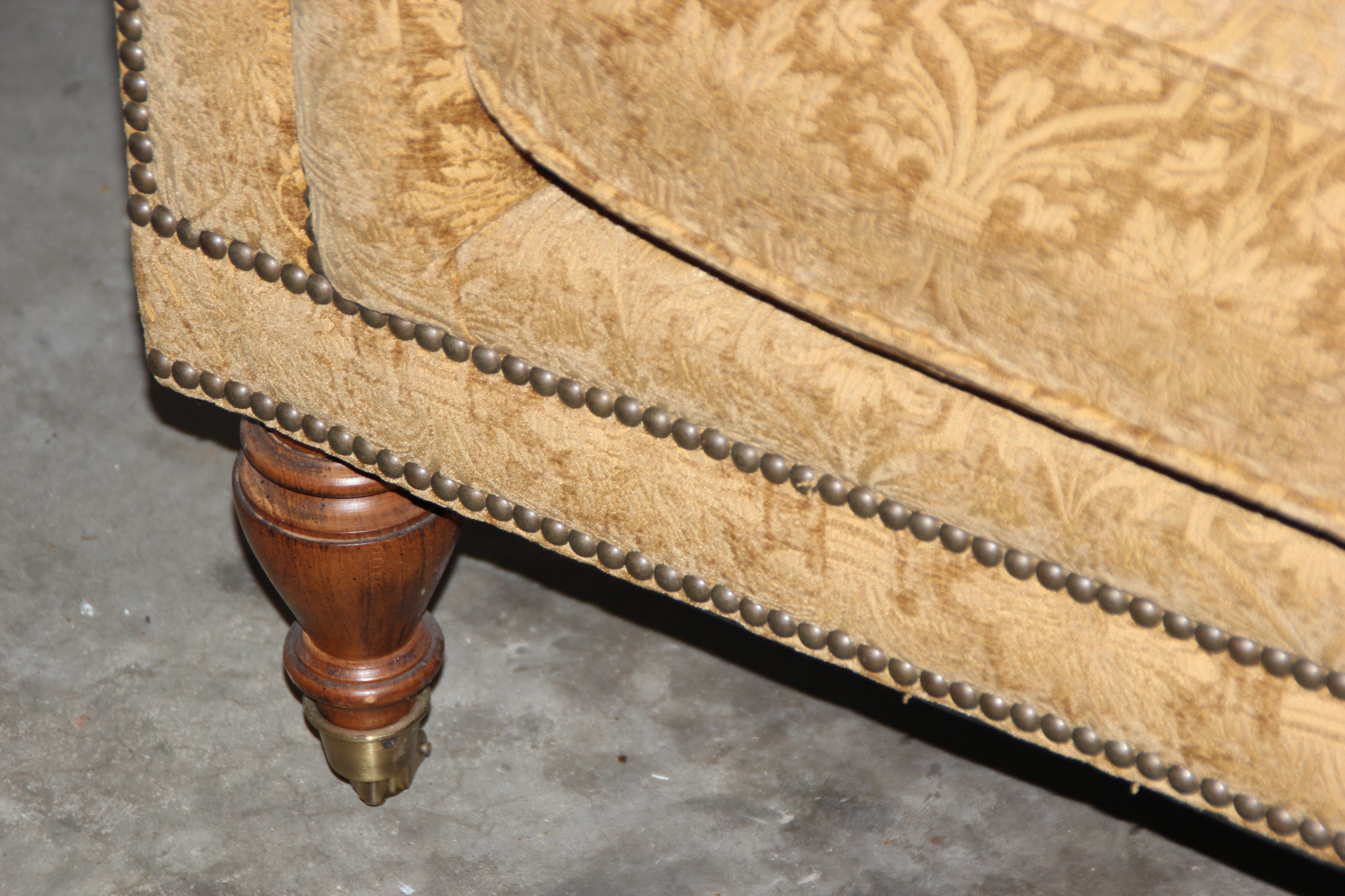 Drexel Lillian August Collection Tufted Settee Ebth
