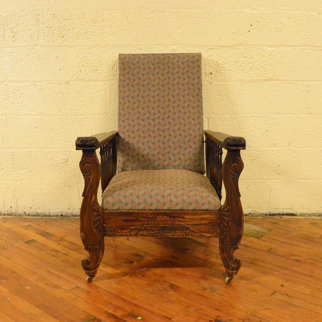 Antique Oak Morris Reclining Chair