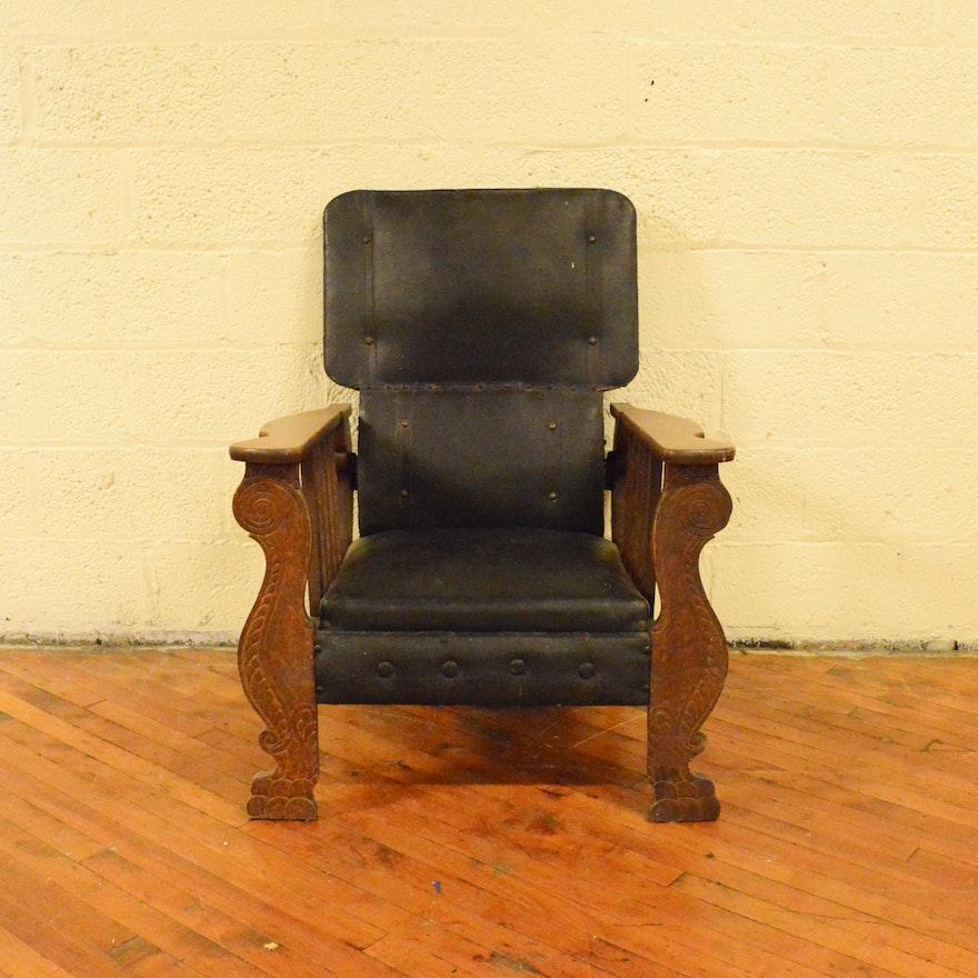 Antique Oak Morris Reclining Chair ... - Antique Oak Morris Reclining Chair : EBTH