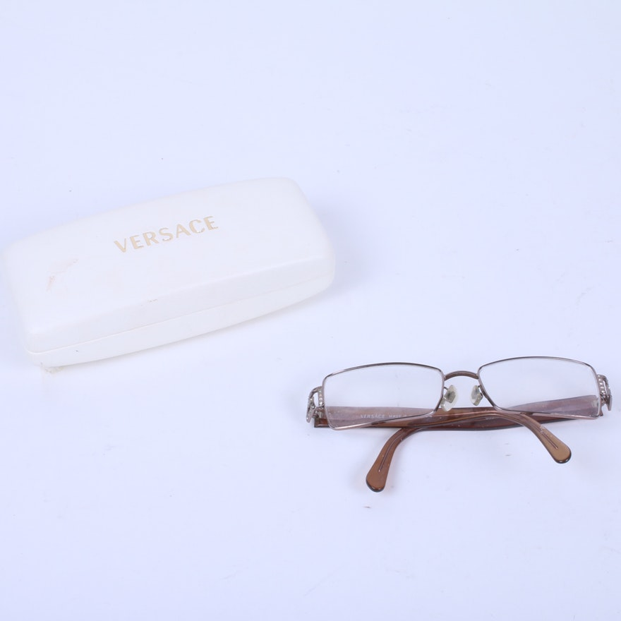 820a55e198 Vintage Versace Eyeglasses with Case   EBTH