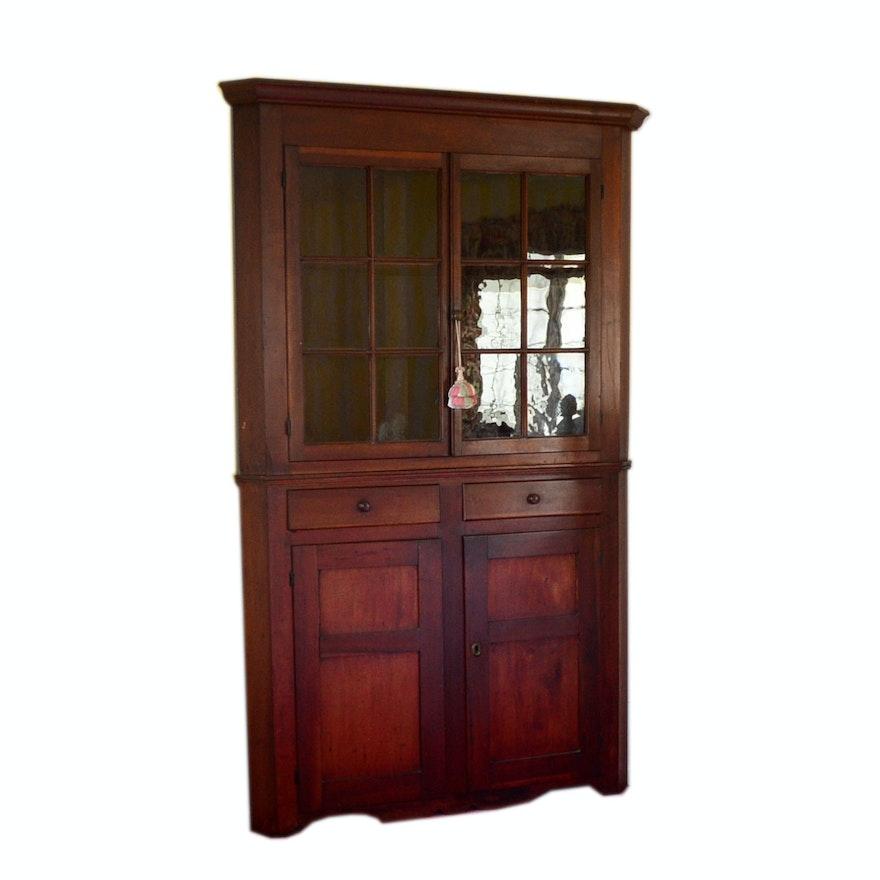 Antique Cherry Corner Cabinet, circa 1870 ... - Antique Cherry Corner Cabinet, Circa 1870 : EBTH