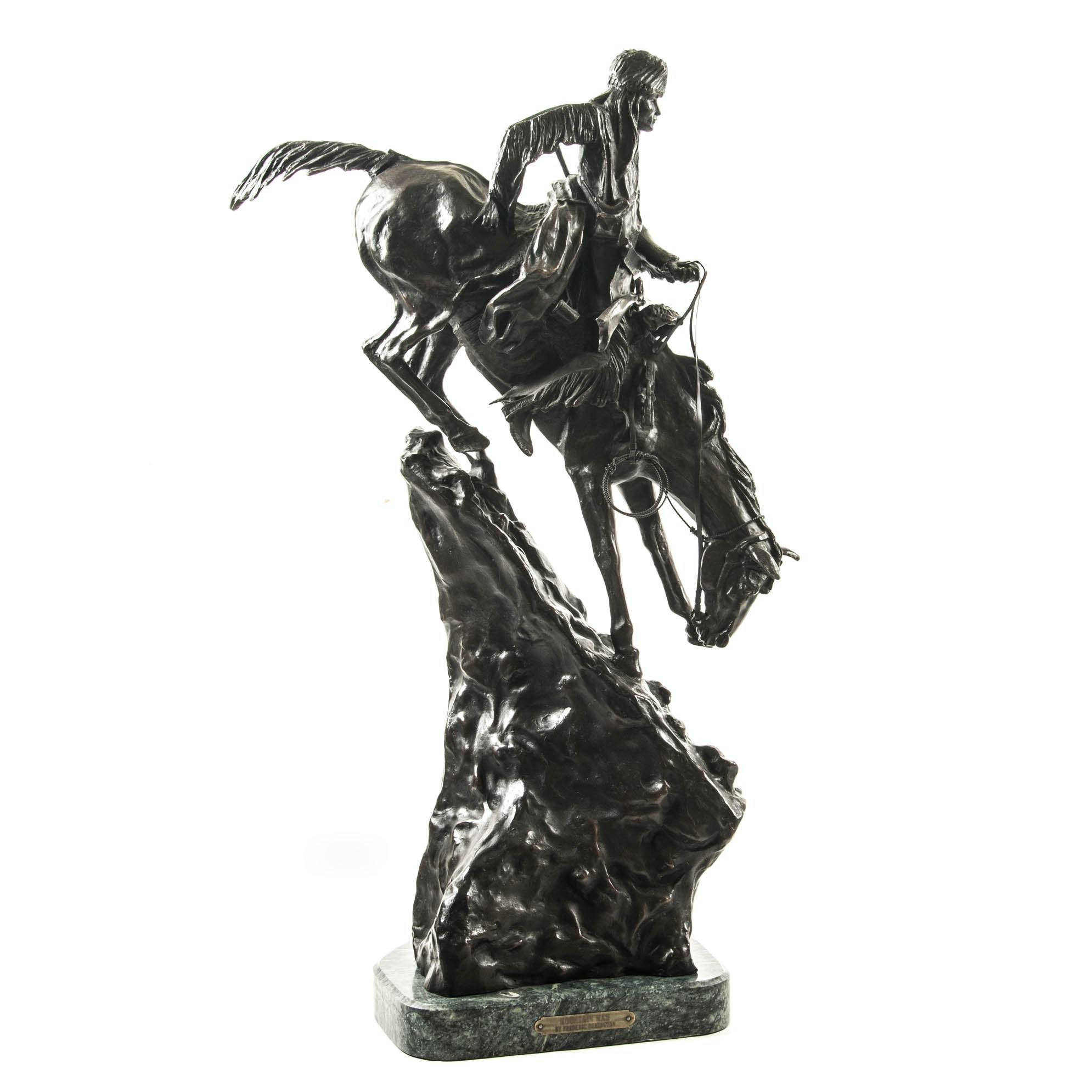 """Mountain Man""  Bronze Sculpture after Frederic Remington"