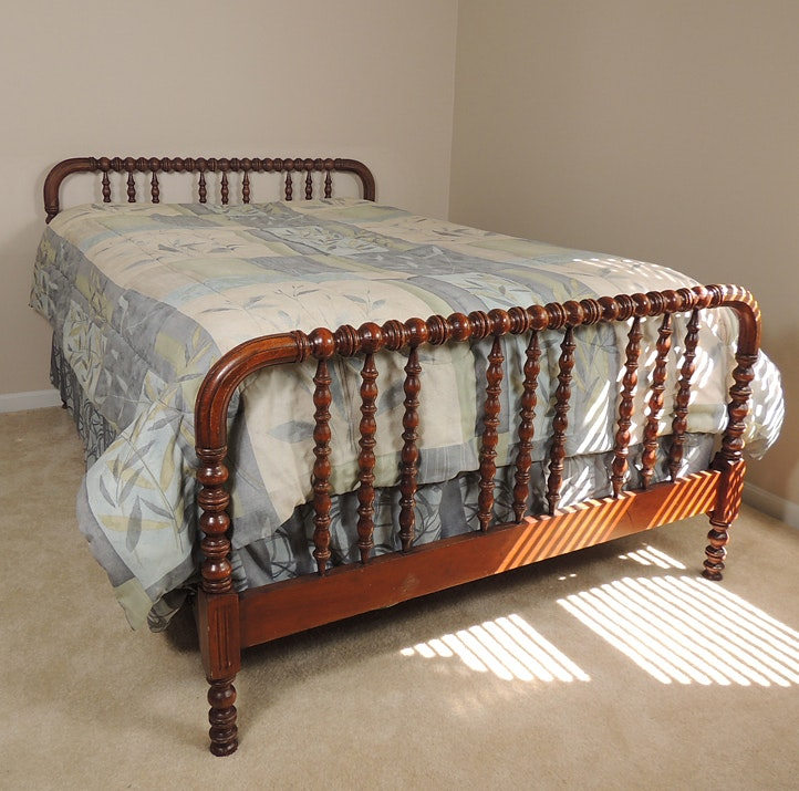 1940s Jenny Lind Spool Bed with Full Mattress and ...