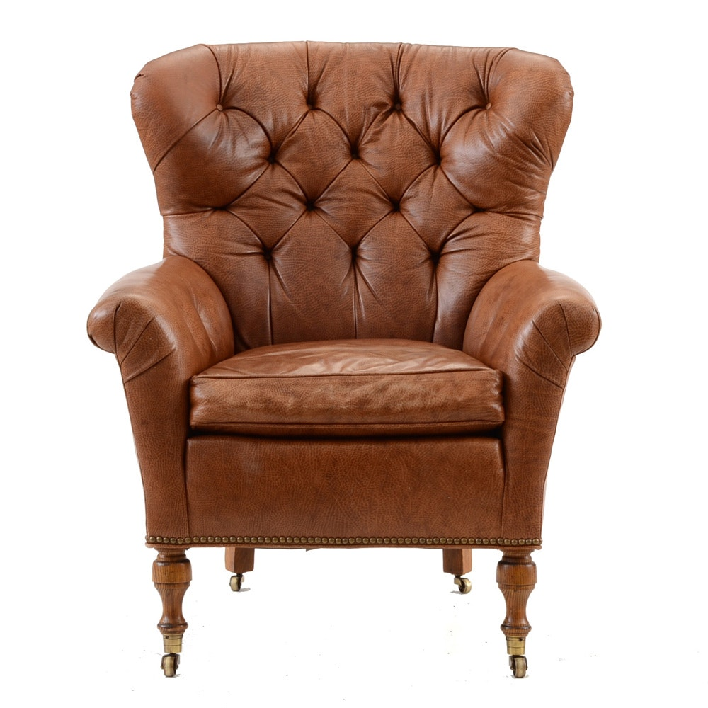Hickory Furniture Leather Club Chair