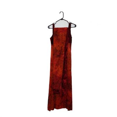 Red Velvet Dress and Wrap