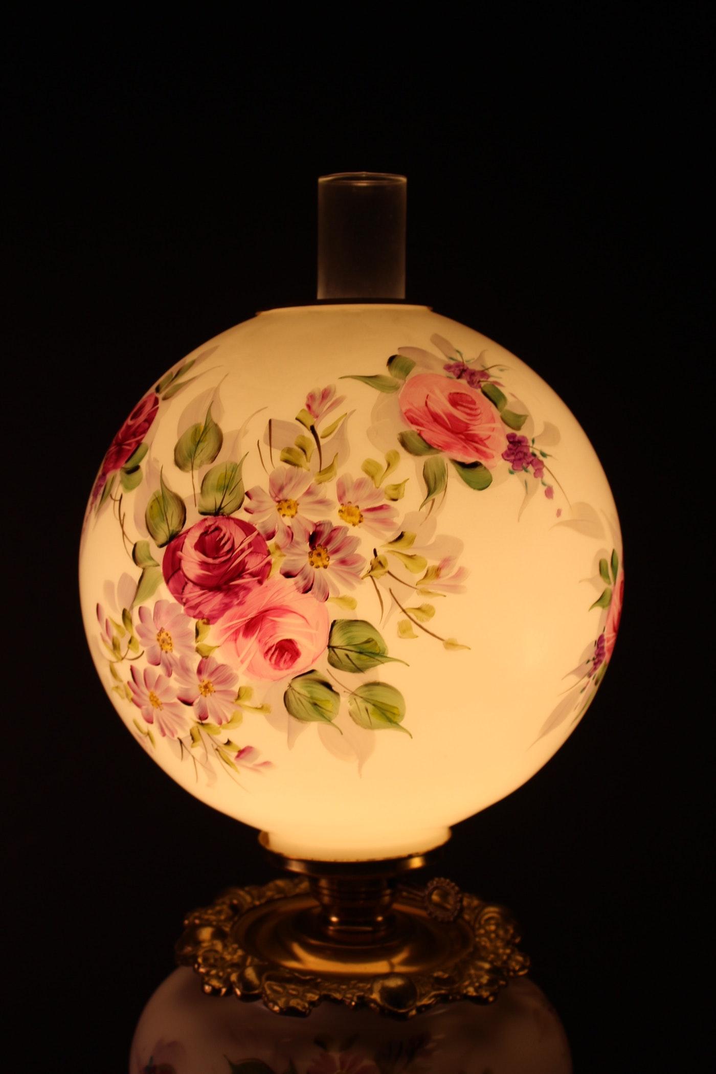 Brass Globe Table Lamp