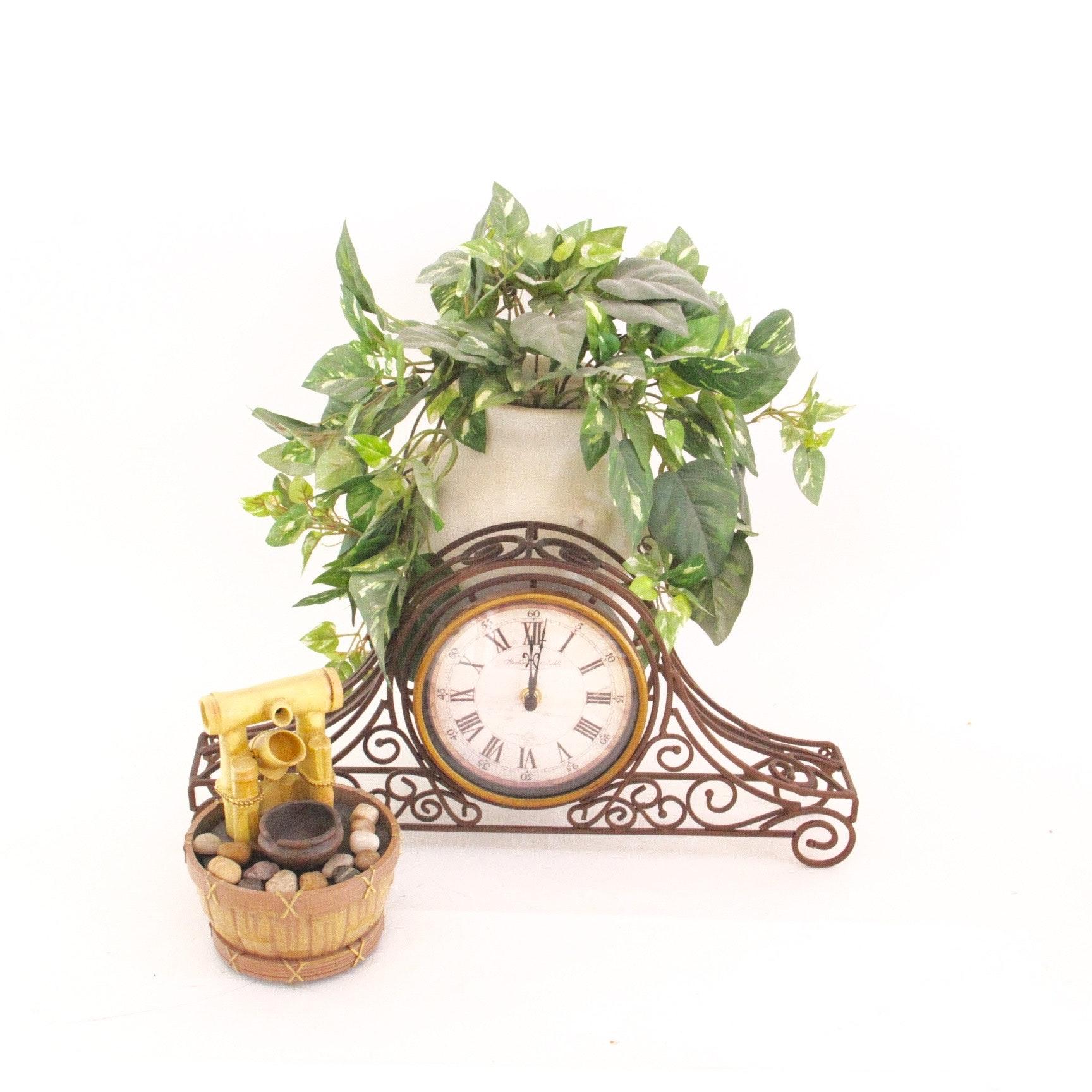 home d 233 cor mantel clock planter and ebth