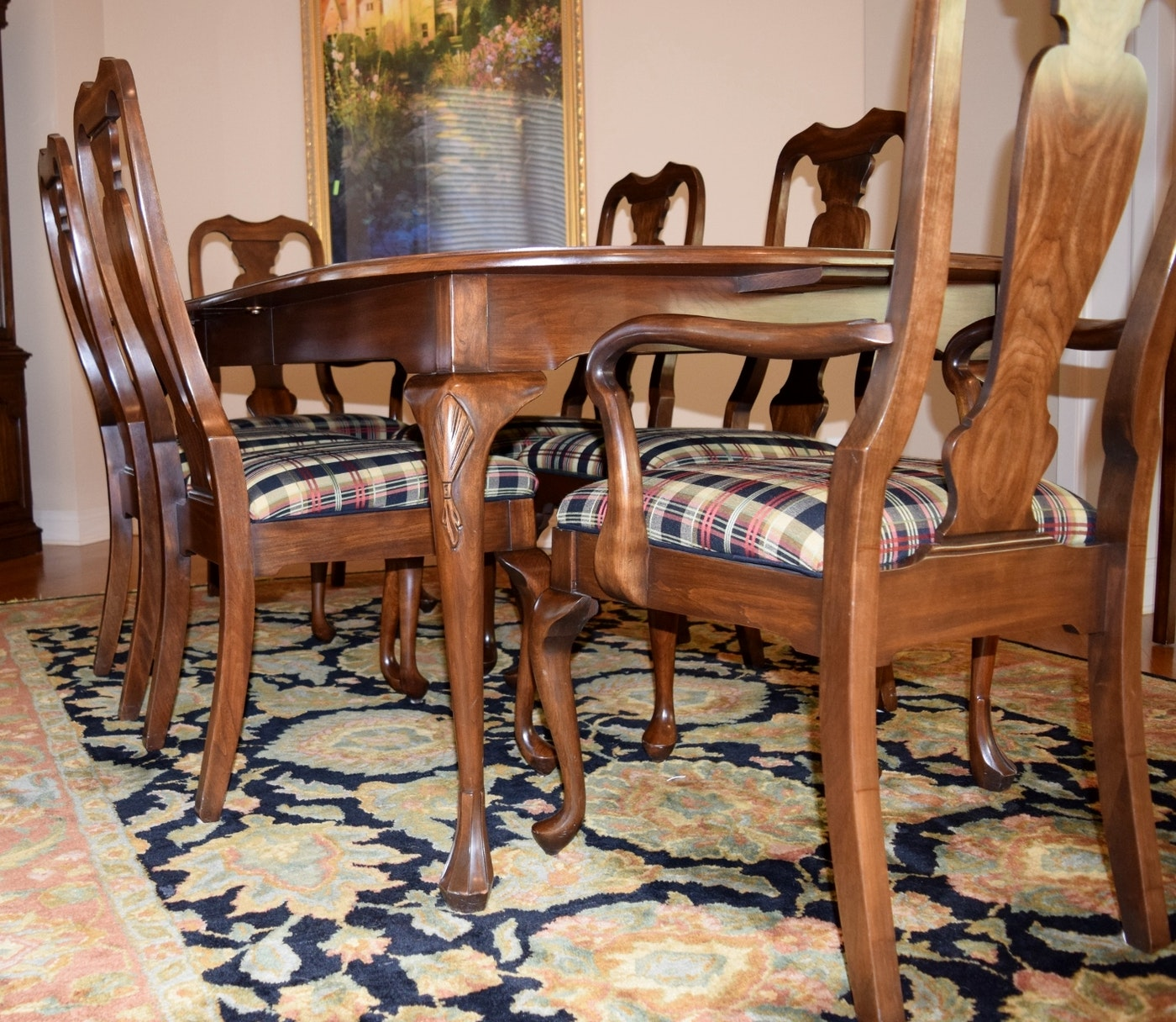 Queen Anne Dining Room Table: Harden Furniture Co. Queen Anne Style Dining Room Table