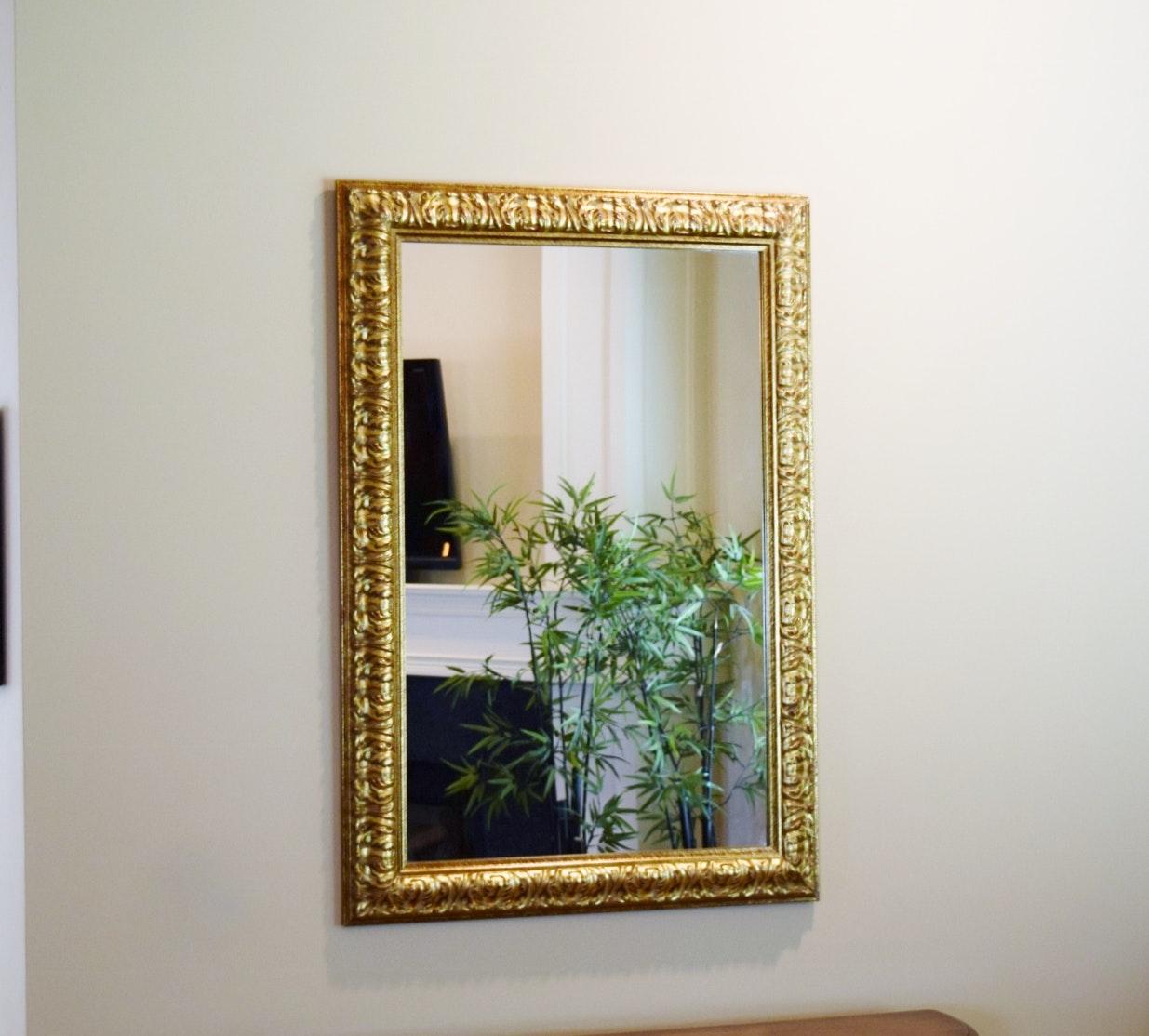 Elegant Gilt Finished Wall Mirror Ebth