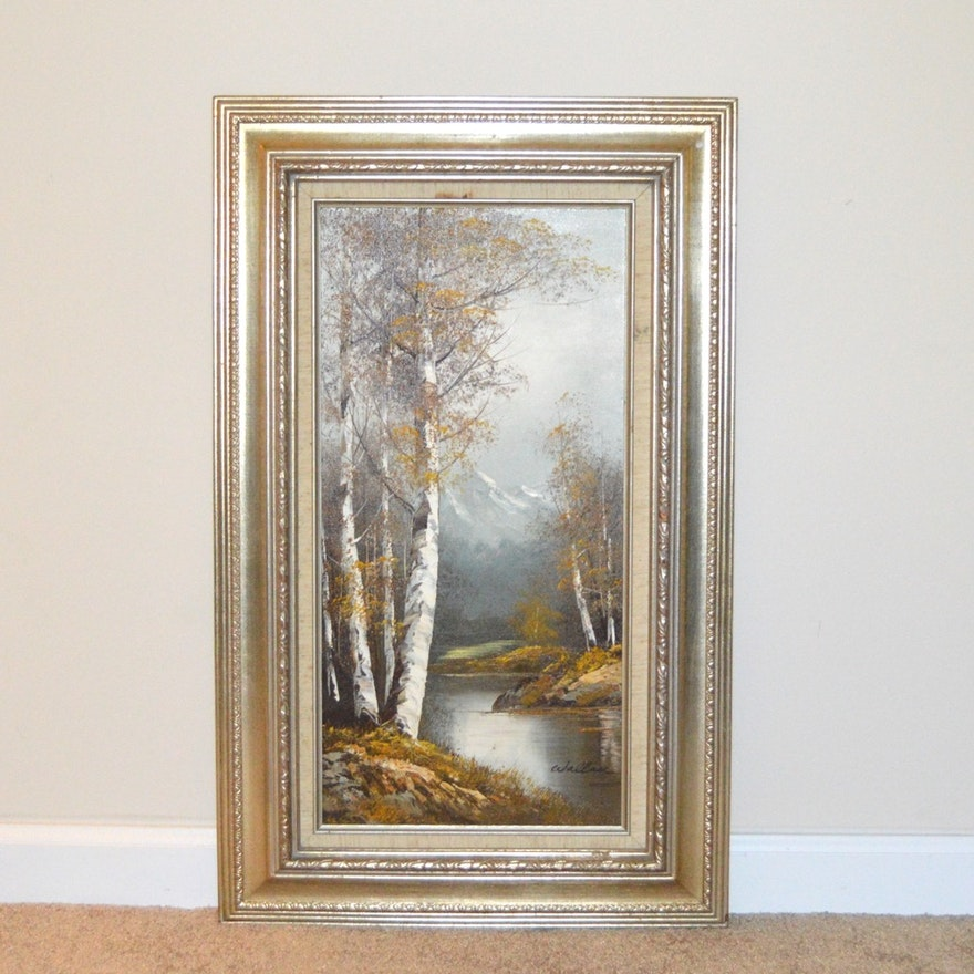 Original Oil Painting By Wallace Ebth