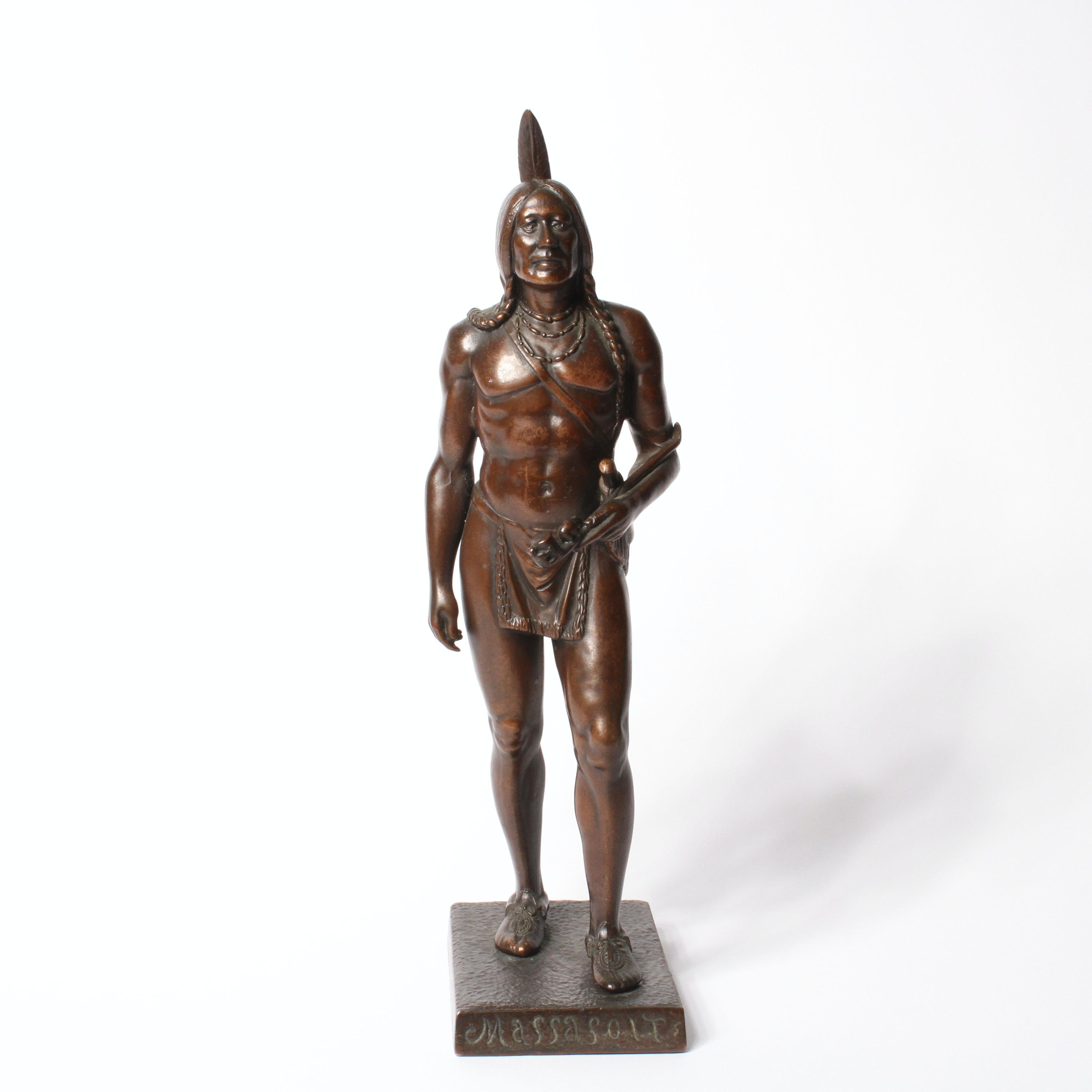 "Rare Cyrus Dallin 1920 Bronze Casting Of ""Massasoit"""
