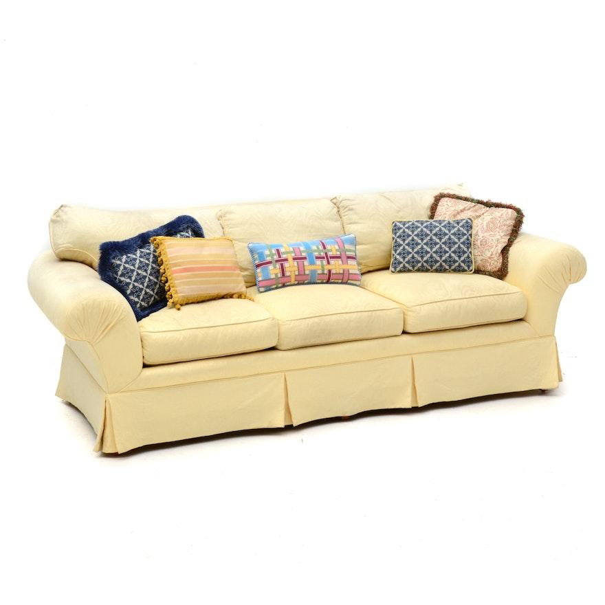 Pale Yellow Sofa