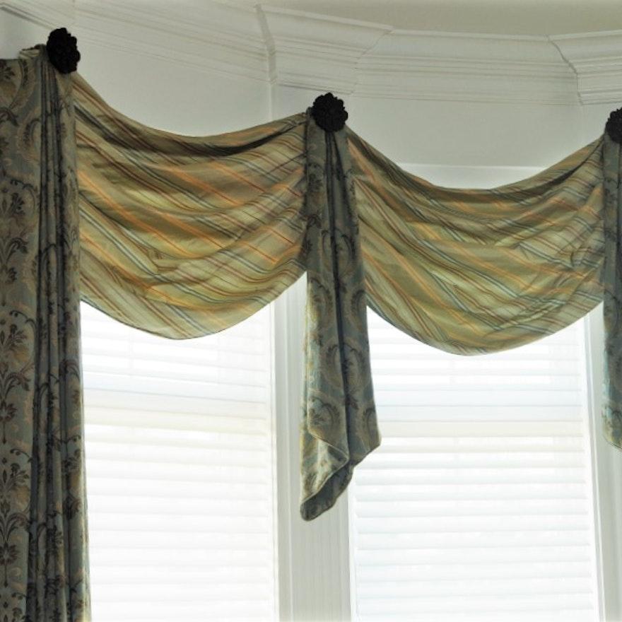 Elegant Draperies For A Bay Window Ebth