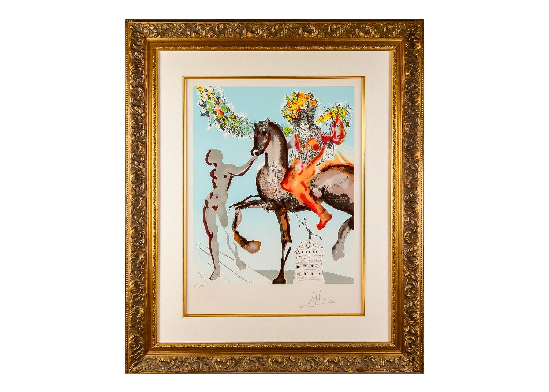 """The Harbinger"" Lithograph by Salvador Dali"