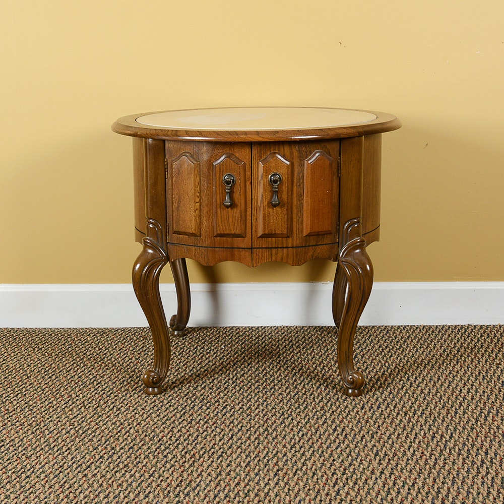 French Provincial Style Round Drum Table