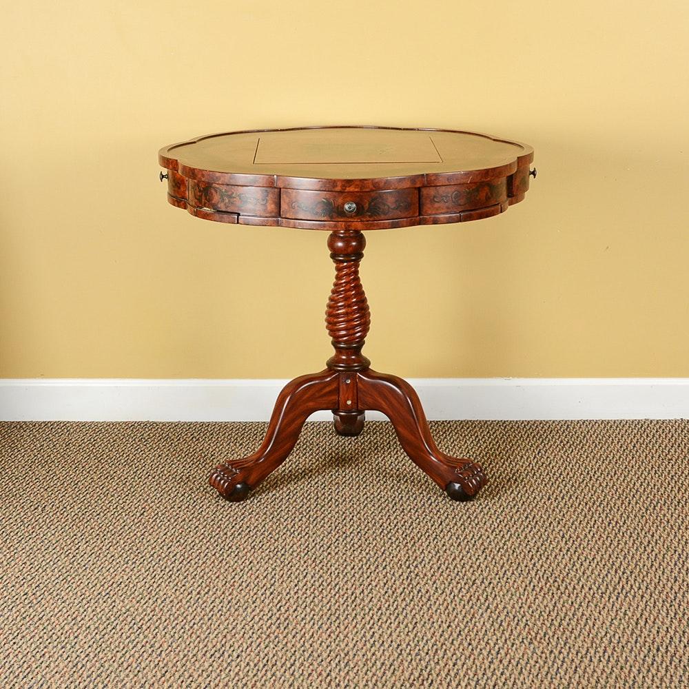 Mahogany Pedestal Game Table