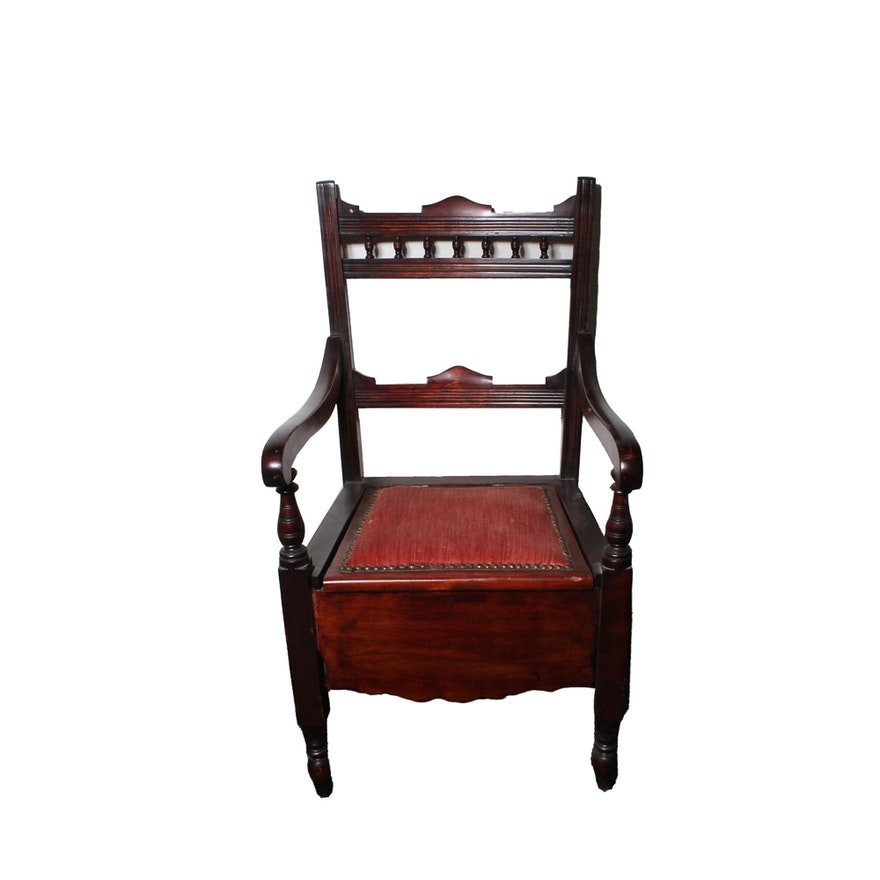 Antique Chamber Chair Toilet ... - Antique Chamber Chair Toilet : EBTH